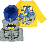 Children's Apparel Network Gray & Yellow Hooded Vest & Knit Pullover - Toddler & Boys