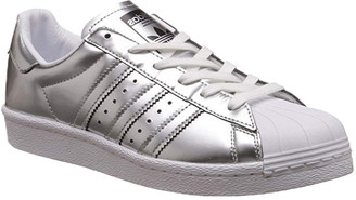 adidas Superstar Boost Silver Metallic Leather-Trim Sneaker
