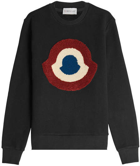 Moncler Cotton Sweatshirt with Appliqué