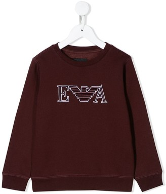 Emporio Armani Kids Logo Embroidered Sweatshirt