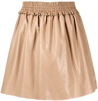 MSGM Pleated Flared Skirt