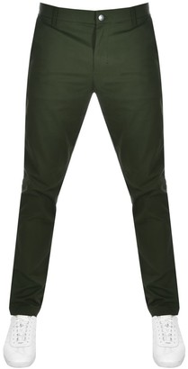 Calvin Klein Jeans Slim Fit Chino Trousers Green