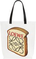 Loewe Toast Printed Cotton Canvas Tote Bag