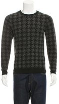 Closed Pullover Houndstooth Sweater w/ Tags