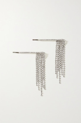 LELET NY Set Of Two Rhodium-plated Crystal Hair Slides - Silver