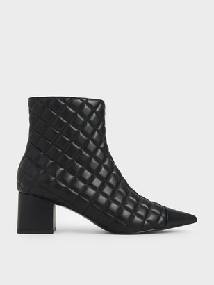 Charles & Keith Quilted Ankle Boots