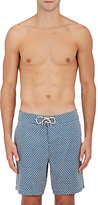 Faherty Men's Fish-Scale-Print Swim Trunks