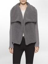 Calvin Klein Faux Sherpa Sweater Jacket