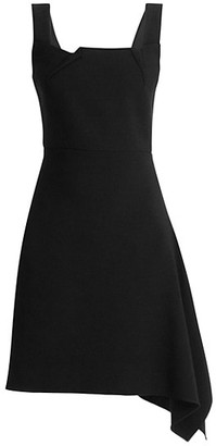 Roland Mouret Caracalla Asymmetrical Crepe Mini Dress