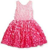 Zoë Ltd Sleeveless 3D Floral Tulle Dress, Pink, Size 7-16