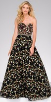 Jovani Sweetheart Beaded Floral A-line Evening Dress