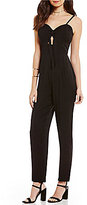 Gianni Bini Suzie Cut Out Jumpsuit with Tie