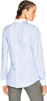 R 13 Backwards Shirt with French Cuff
