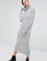 Daisy Street Knitted Maxi Dress With Roll Neck