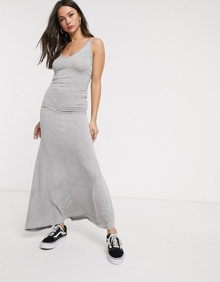 Glamorous jersey maxi dress in grey marl