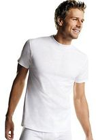 Hanes Men's White TAGLESS Crewneck Undershirt 6-Pack Men's Shirts