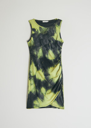 Which We Want Women's Kate Tie Dye Dress in Lime/Black, Size Small