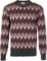 Cerruti geometric print jumper