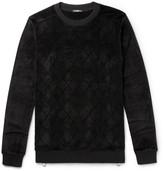 Balmain Zip-Detailed Velvet Sweater