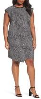 MICHAEL Michael Kors Plus Size Women's Cheetah Print Flutter Sleeve Dress