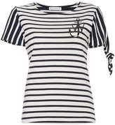 J.W.Anderson stripe logo print short sleeve t-shirt