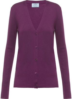 Prada Knitted Button-Up Cardigan