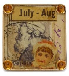 Francesca Villa Vintage Stamp And Citrine 18kt Gold Ring - Womens - Gold