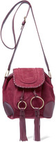 See by Chloe Polly Taseled Leather-trimmed Suede Shoulder Bag - Pink