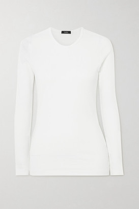 Bassike Ribbed Organic Cotton-jersey Top - White