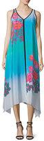 Nanette Lepore Sleeveless V-Neck Ombre Printed Midi Dress