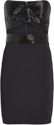 Cushnie Strapless Beaded Mini Dress