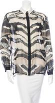 Roberto Cavalli Silk Button-Up Top w/ Tags