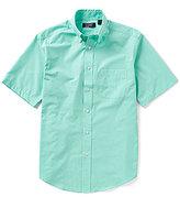 Roundtree & Yorke Travel Smart Short-Sleeve Solid Dobby Sportshirt