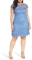 Tadashi Shoji Plus Size Women's Cap Sleeve A-Line Dress