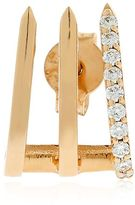 Split Soho Gold & Diamond Mono Earring