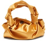 The Row The Ascot Silk-satin Clutch Bag - Womens - Yellow