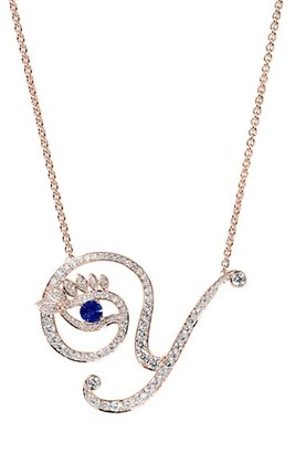 Tabayer Eye 18K Rose Gold, Sapphire & Diamond Y Pendant Necklace