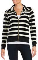 Calvin Klein Petite Cowlneck Zip-Front Sweater