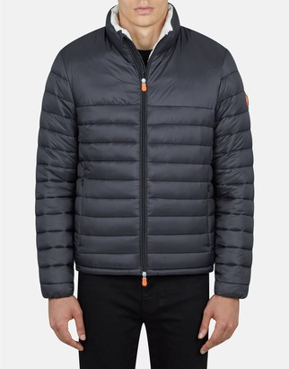 Save The Duck Men's Giga Jacket with Faux Sherpa Lining