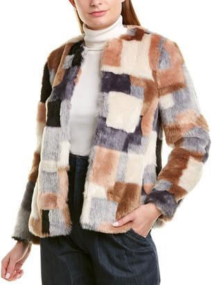 La Vie Rebecca Taylor Patched Coat