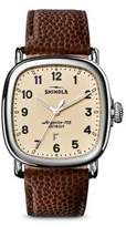 Shinola The Guardian Football Leather Strap Watch
