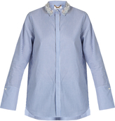 Muveil Embellished-collar cotton shirt