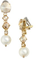 Miu Miu Women's Classic Imitation Pearl Drop Earrings