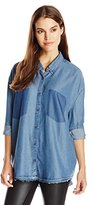 Cheap Monday Women's Free Chambray Button Down Shirt
