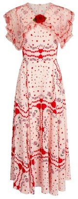 Rodarte Printed Ruffle Dress