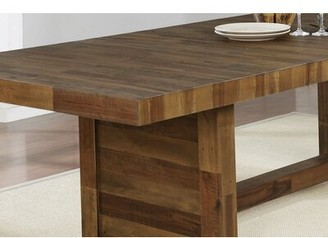 "Laurel Foundry Modern Farmhouse Jaquan Dining Table Size: 30"" H x 39.75"" W x 103.25"" D"