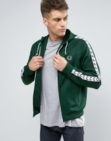 Fred Perry Sports Authentic Hooded Track Jacket in Green