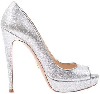 Prada \N Silver Leather Heels