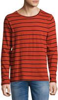Nudie Jeans Orvar Striped Long-Sleeve T-Shirt, Blood Orange