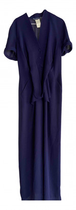 Thierry Mugler Purple Polyester Jumpsuits